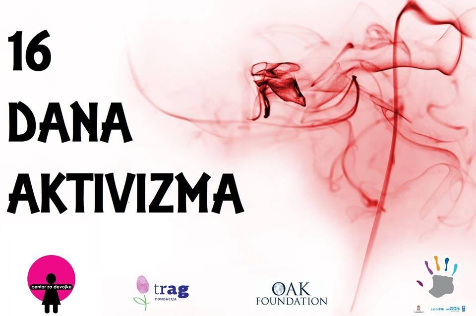 16 dana aktivizma 25.11 – 10.12.2017. Centar za žene