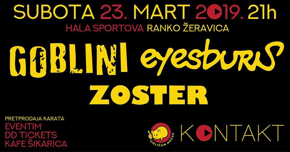 Eyesburn – Goblini – Zoster 23.03.2019. Hala sportova