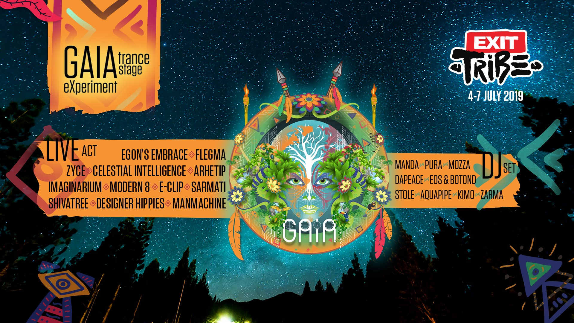 Gaia Experiment Trance Stage EXIT 2019