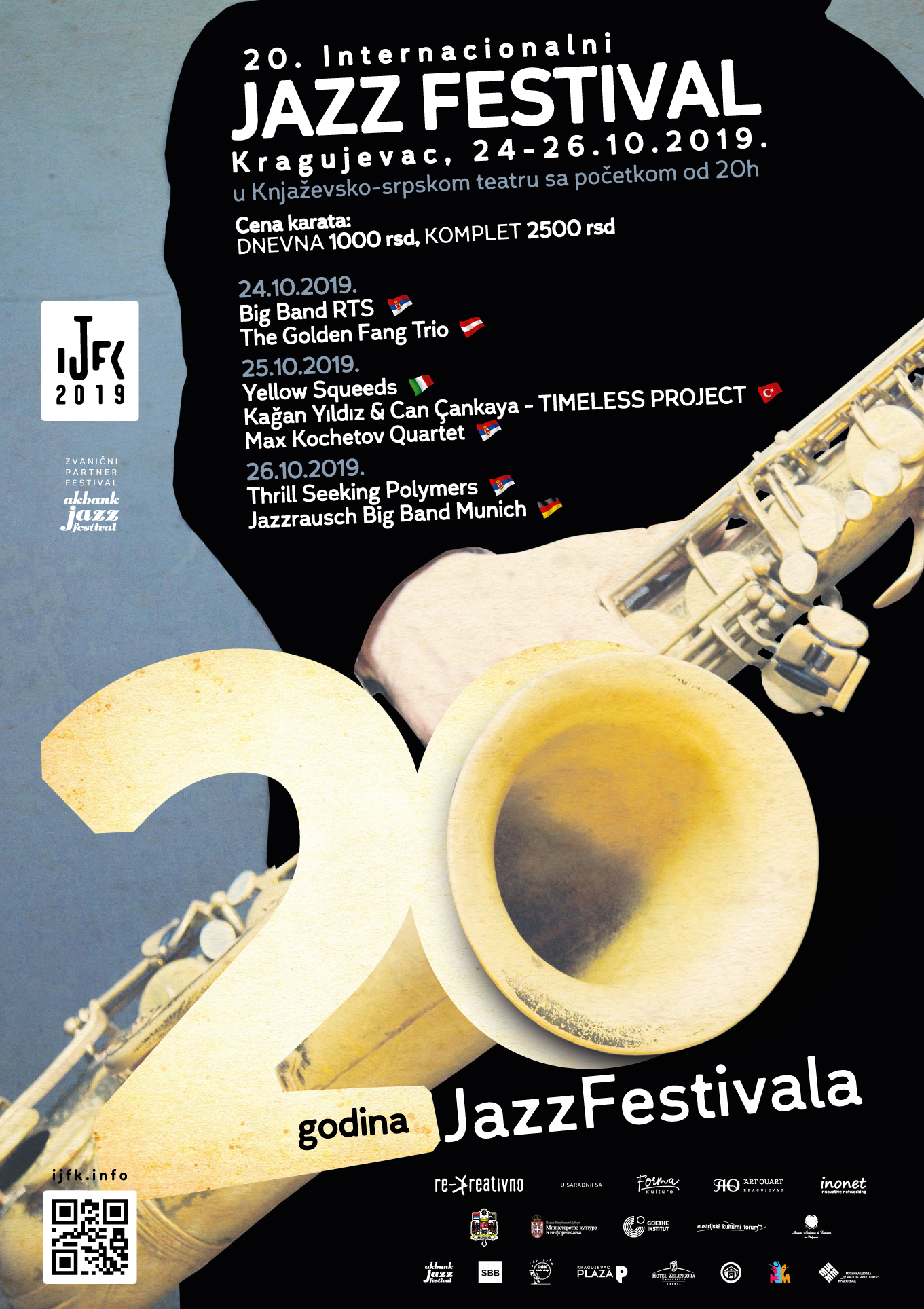 XX International JazzFest Kragujevac – special edition for the grand jubilee