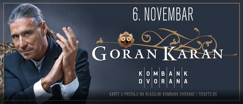 GORAN KARAN 06.11.2019. Kombank Dvorana
