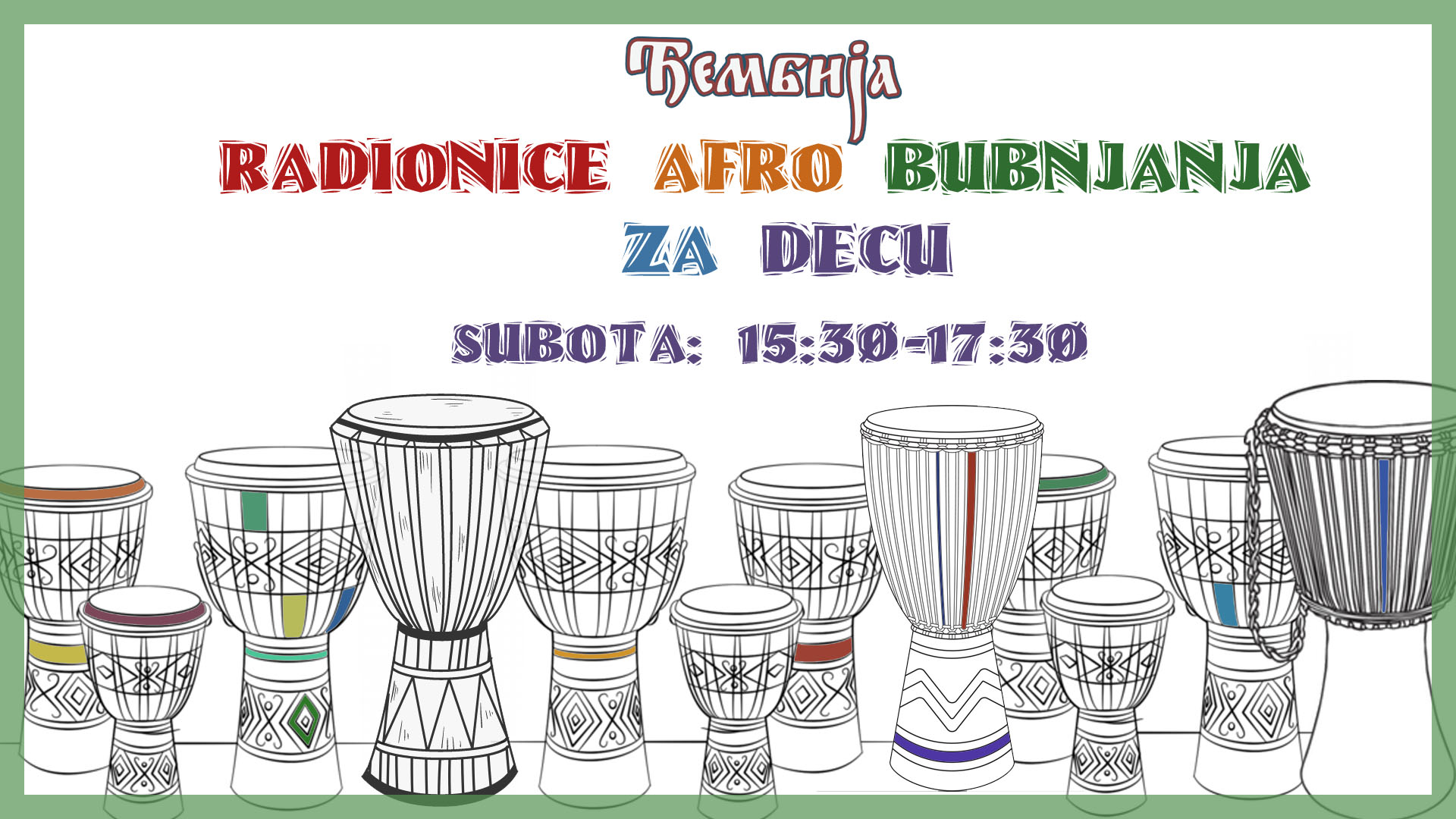 Radionice Afro Bubnjanja za Decu