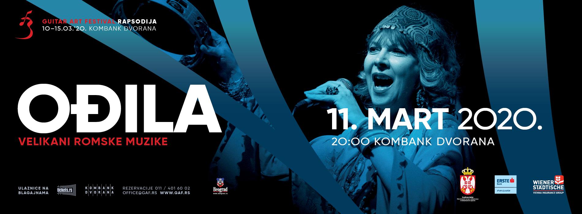 XXI GUITAR ART FESTIVAL – OĐILA 11.03.2020. Kombank dvorana