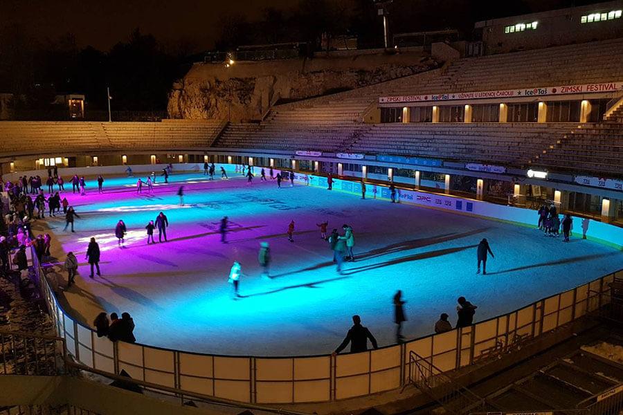 Klizanje na stadionu Tašmajdan 14.12.2019 – 16.02. 2020.