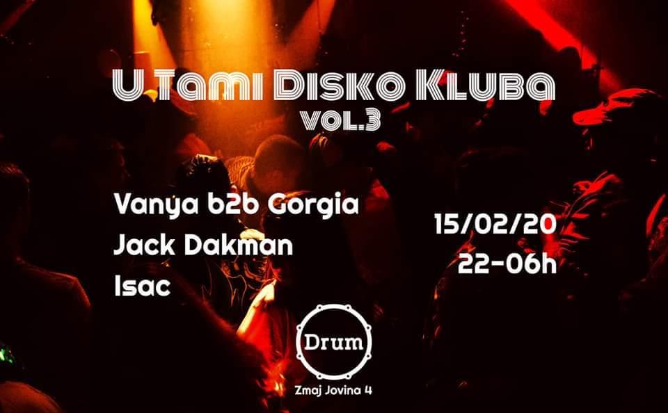 U Tami Disko Kluba 15.02.2020. Drum