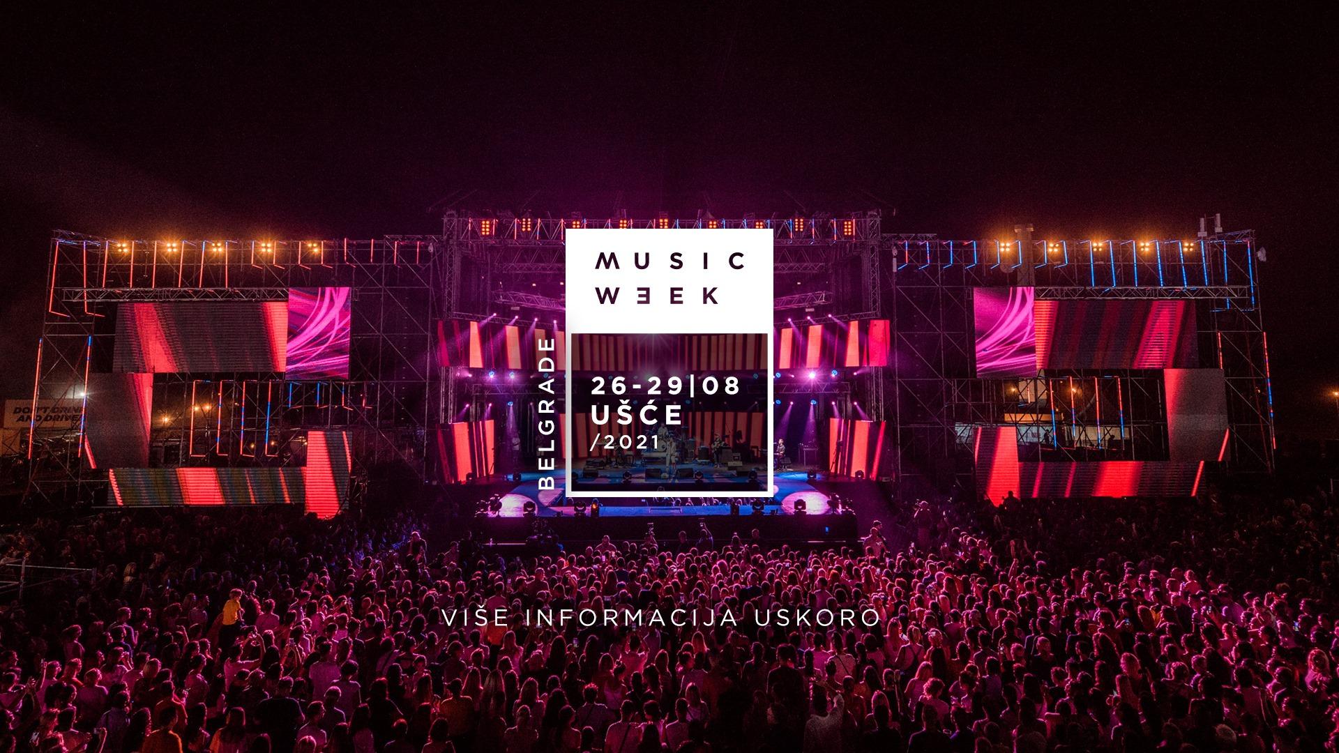 Music Week Festival 26 – 29.08.2021. Usce