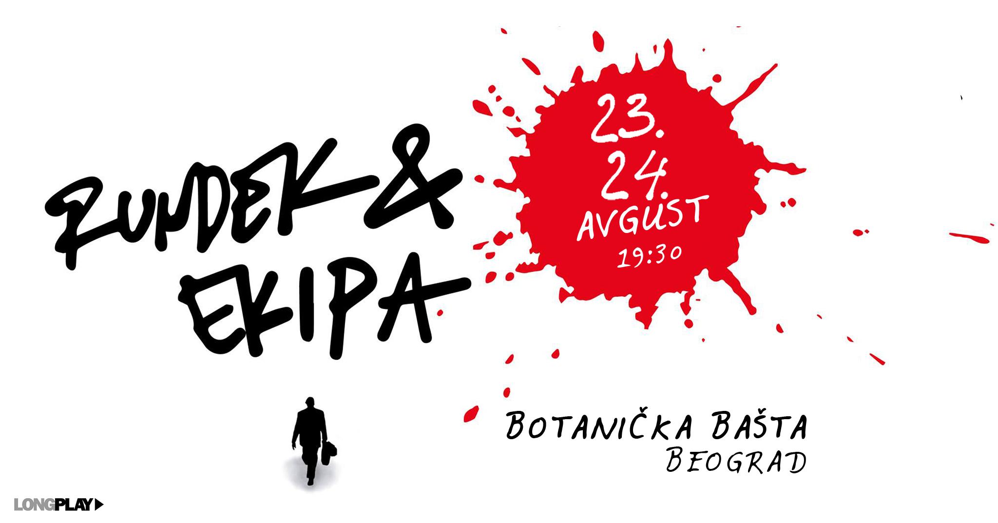 Rundek & Ekipa u Botaničkoj bašti • 23. i 24.avgust